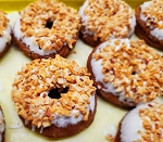 Donuts Pumpkin Spice with Cream Cheese and Crushed Peanuts SEASONAL