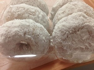 Donuts-Powder Sugar Casein Free (6 per box). In Store Purchase