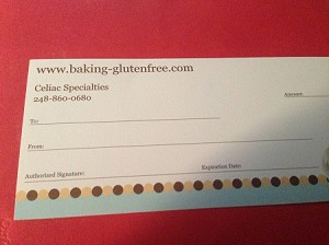 Gift Certificate. Call for Purchase