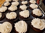 Cupcakes-Chocolate 4 pack  with Vanilla Frosting